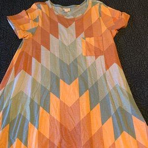Geometrical LulaRoe Carly dress